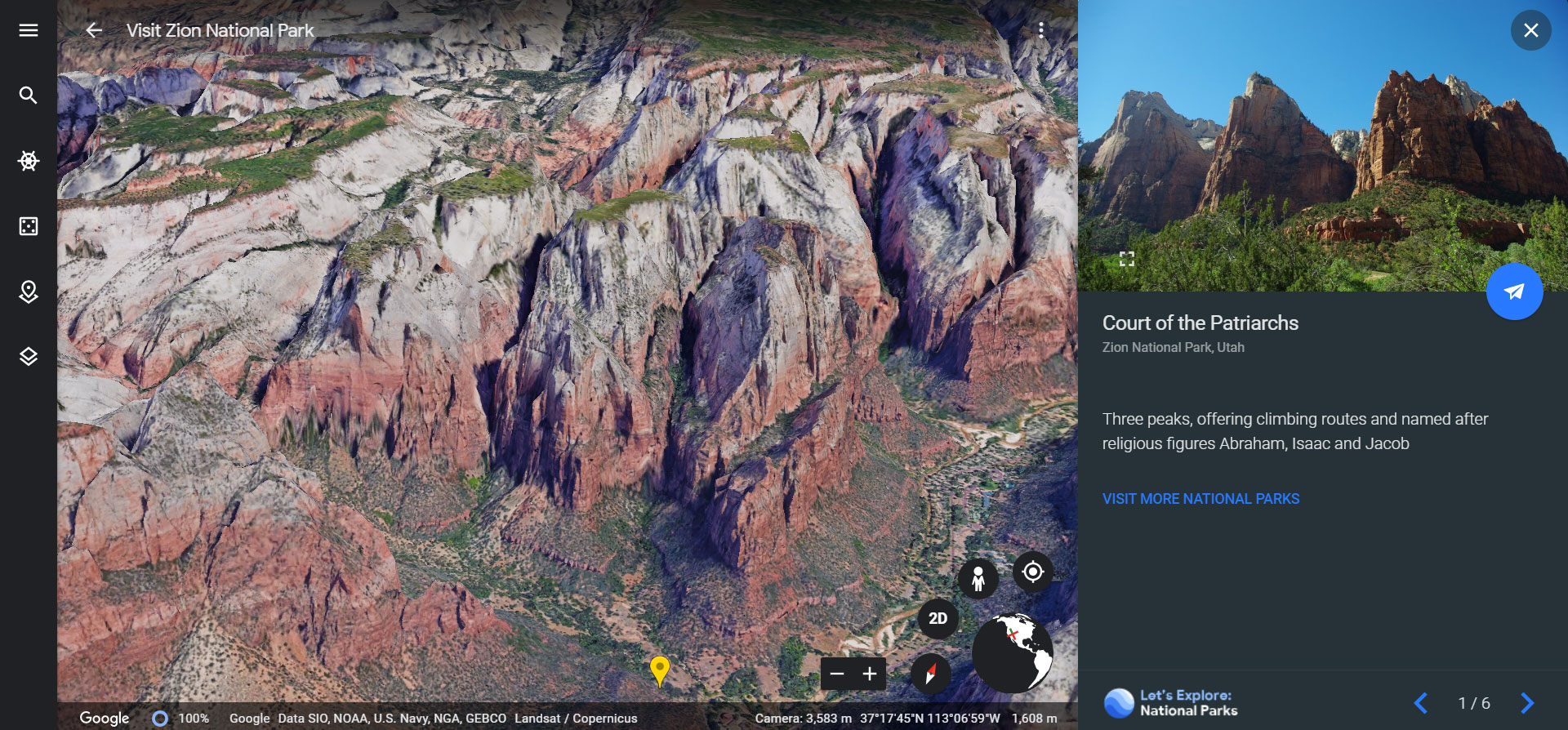 Virtual tour of Zion National Park