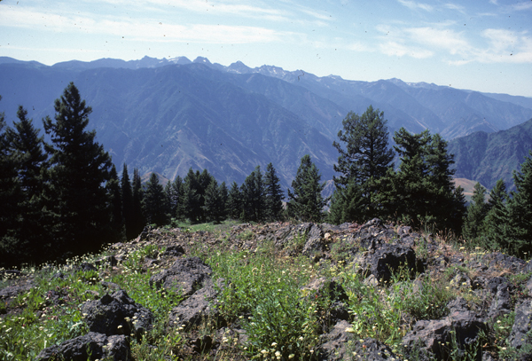Seven Devils Mountains and Hells Canyon seen from Hat Point, Oregon.