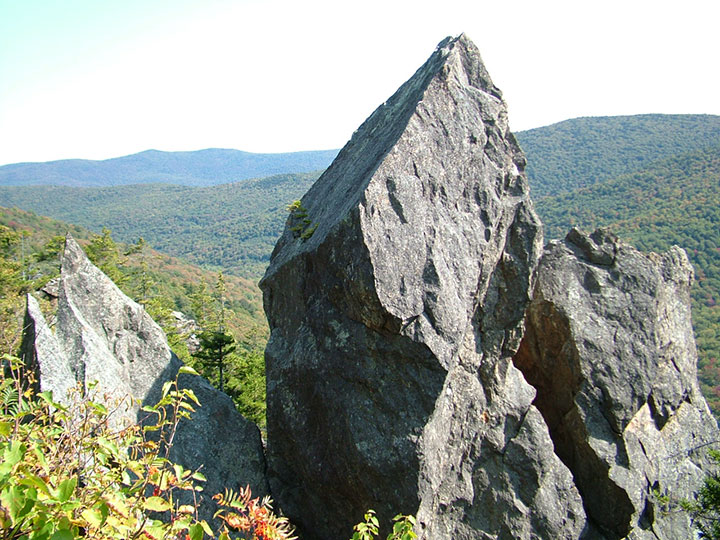 Large pointy rock.